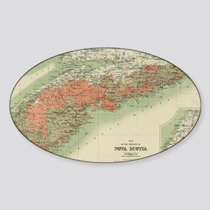 Vintage Geological Map of Nova Scotia (190 Sticker