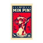 Obey the Min Pin! USA Rectangle Sticker