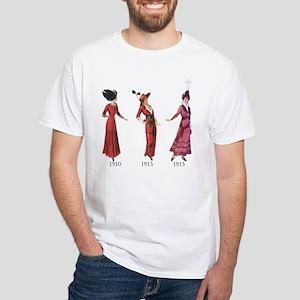 1910s White T-Shirt