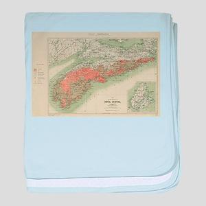 Vintage Geological Map of Nova Scotia baby blanket