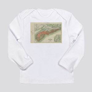 Vintage Geological Map of Nova Long Sleeve T-Shirt