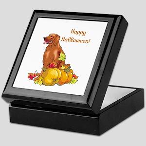 Happy Halloween Irish Setter Keepsake Box