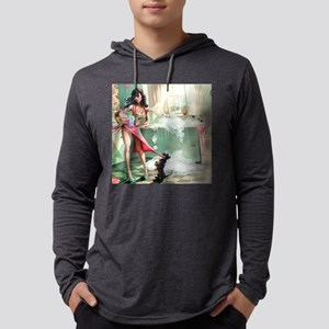 Pin up Girl In Kitchen Long Sleeve T-Shirt