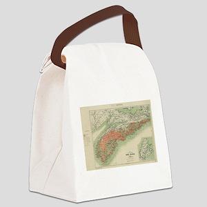 Vintage Geological Map of Nova Sc Canvas Lunch Bag