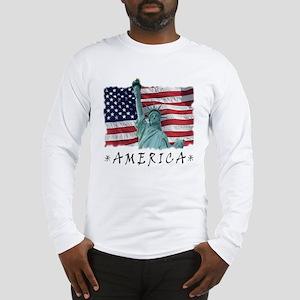 Long Sleeve American Flag T-Shirt