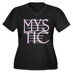 The Mystic Women's Plus Size V-Neck Dark T-Shirt