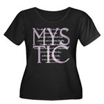The Mystic Women's Plus Size Scoop Neck Dark T-Shi