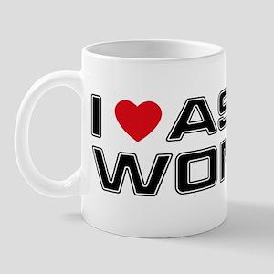 I Love Asian Women Mug