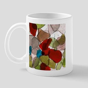 Rainbow Beachglass Mug