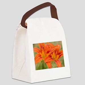 Orange Lilies Canvas Lunch Bag