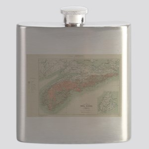 Vintage Geological Map of Nova Scotia (1906) Flask