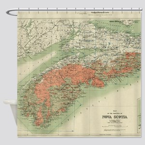 Vintage Geological Map of Nova Scot Shower Curtain