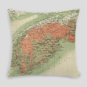 Vintage Geological Map of Nova Sco Everyday Pillow
