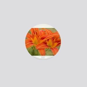Orange Lilies Mini Button