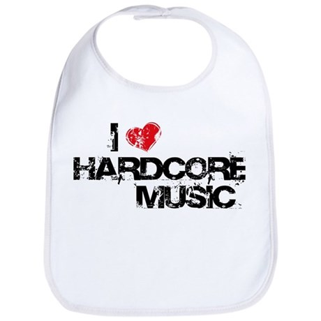 I Love Hardcore Music Bib