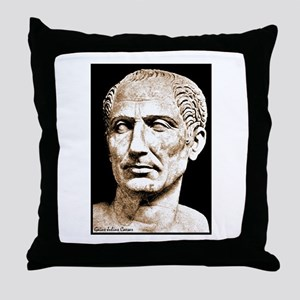 "Faces ""Julius Caesar"" Throw Pillow"