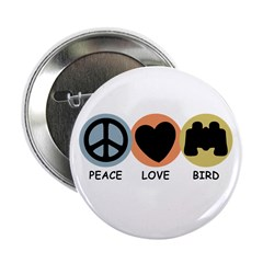Peace Love Bird Button