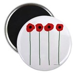 """Poppies 2.25"""" Magnet (100 pack)"""
