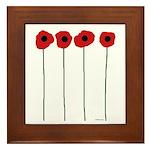 Poppies Framed Tile