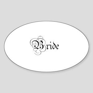 Bride - Parchment Oval Sticker