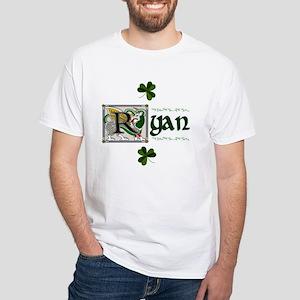 Ryan Celtic Dragon White T-Shirt