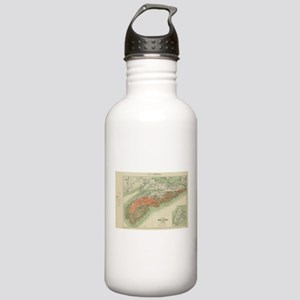 Vintage Geological Map Stainless Water Bottle 1.0L