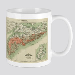 Vintage Geological Map of Nova Scotia (1906) Mugs