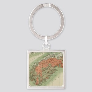 Vintage Geological Map of Nova Scotia (1 Keychains