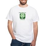 Kiss Me I'm Drunk - Irish Dri White T-Shirt