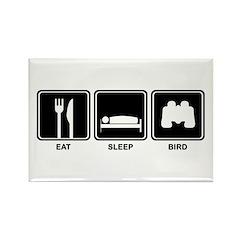 Eat Sleep Bird Rectangle Magnet