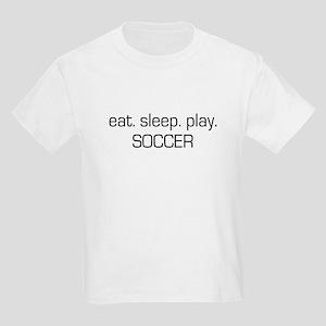 Eat Sleep Play Soccer Kids Light T-Shirt