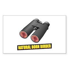 Natural Born Birder Rectangle Decal