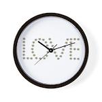 Daisy Love Wall Clock