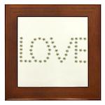 Daisy Love Framed Tile
