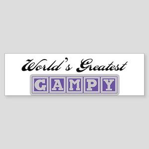 World's Greatest Gampy Bumper Sticker