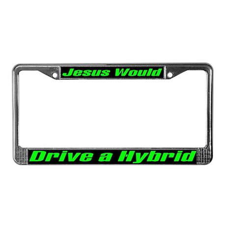 Jesus and Hybrid License Plate Frame