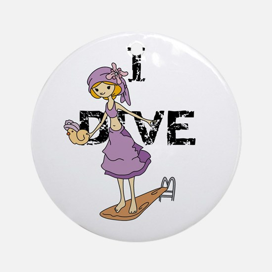Girl Diver Ornament (Round)