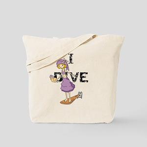 Girl Diver Tote Bag
