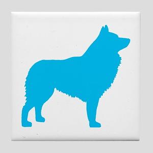 Blue Schipperke Tile Coaster
