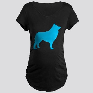 Blue Schipperke Maternity Dark T-Shirt