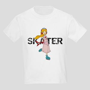 Girl Inline Skater Kids Light T-Shirt