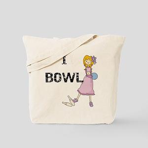 Girl Bowler Tote Bag