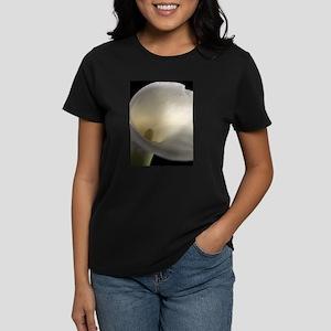 White Calla Lilly 2 Women's Dark T-Shirt