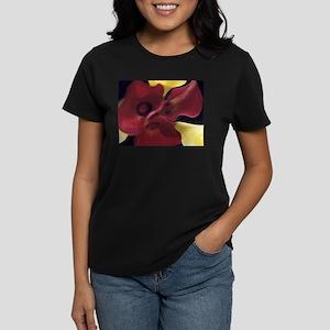 Red & Yellow Calla Lillies Women's Dark T-Shirt