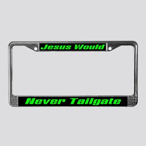 Jesus Tailgate License Plate Frame