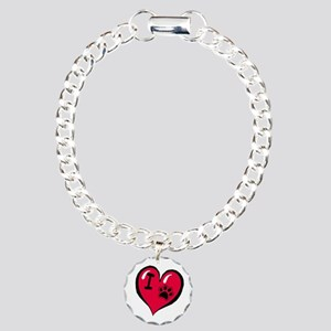 I LOVE MY DOG Charm Bracelet, One Charm