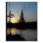 Sunset On Elbow Lake Poster
