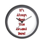 It's Always Beer Time Wall Clock