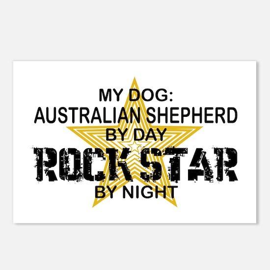 Australian Shepherd Rock Star Postcards (Package o