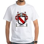 James Family Crest White T-Shirt